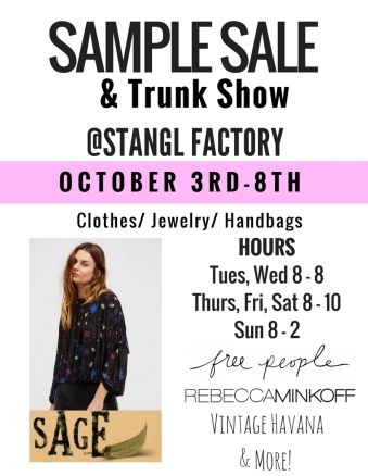 trunk show flyers